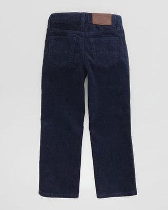 Ralph Lauren Fine-Wale 5-Pocket Corduroy Pants, New Port Navy, Sizes 2-3