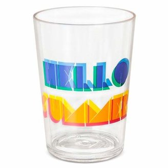 Plastic Tumblers 16oz Blue and Yellow - Set of 6