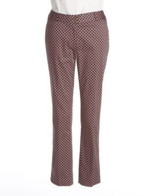 MICHAEL Michael Kors Printed Skinny Ankle Pants