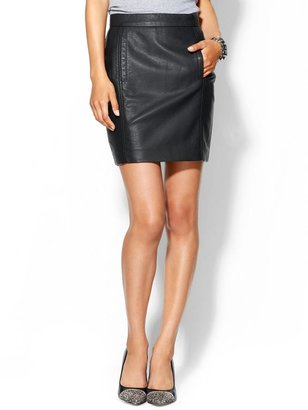 French Connection Riot Faux Leather Skirt