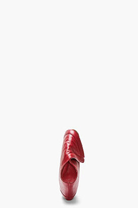 Alexander McQueen Red Leather De Manta City Clutch