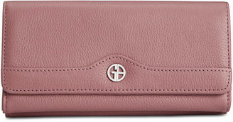 Giani Bernini Pebble Leather Receipt Wallet