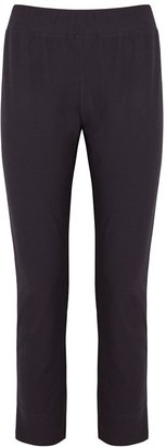 Eileen Fisher Navy Cropped Slim-leg Trousers