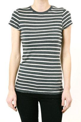 Vince Striped Boy Tee - Black & White