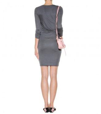 Velvet Dalie draped dress