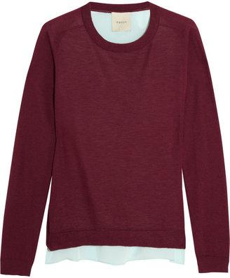 Mason by Michelle Mason Silk-paneled cashmere sweater