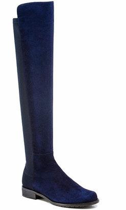 Stuart Weitzman 50/50 - Suede OTK Boots in Navy