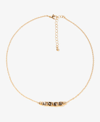 Forever 21 Block Letter Bead Necklace