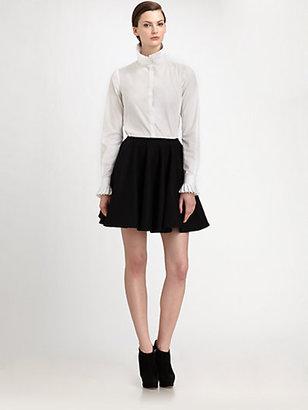 Alexander McQueen Wool Godet Mini Skirt