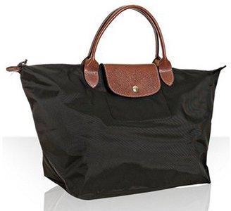 Longchamp black nylon 'Le Pliage' medium folding tote