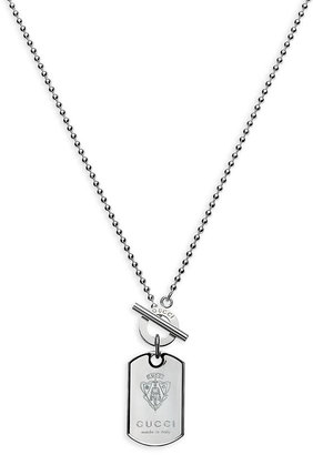 Gucci 'Crest' Dog Tag Necklace