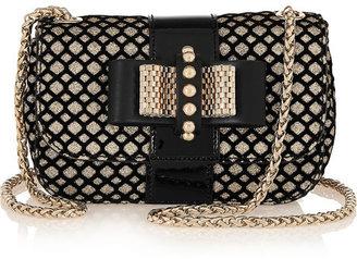 Christian Louboutin Sweety Charity mini glitter-finished leather shoulder bag