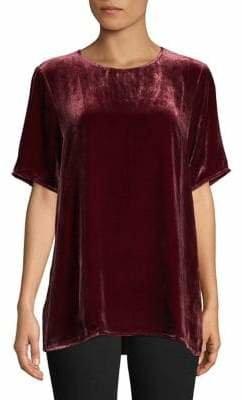 Eileen Fisher Short-Sleeve Velvet Top
