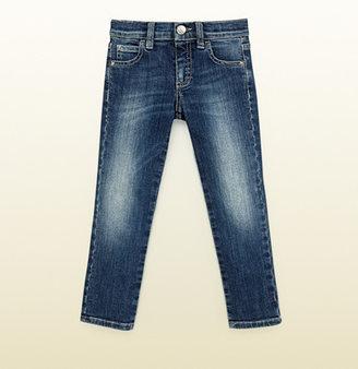 Gucci Kid's Blue Stretch Denim Skinny Pant