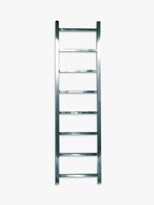 John Lewis & Partners Peel 1250 Central Heated Towel Rail and Valves, from the Floor