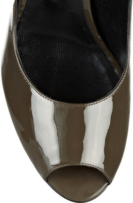 Jil Sander Patent-leather slingbacks
