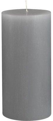 "Crate & Barrel Tupelo Grey 3""x6"" Pillar Candle"