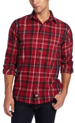 Dickies Men's Long Sleeve Button Front Flannel Shirt