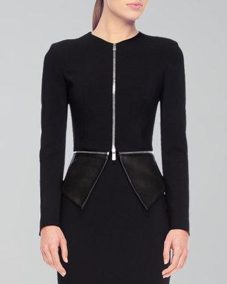 Michael Kors Crepe Zip Jacket