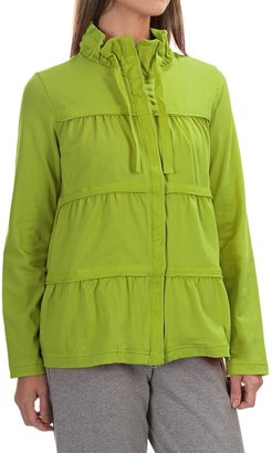 Neon Buddha Sassy Ruffle Jacket - Stretch Cotton Jersey (For Women) $29.99 thestylecure.com
