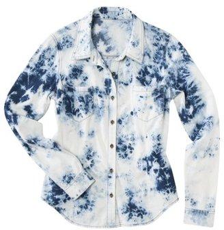 Mossimo Juniors Long Sleeve Button Down Shirt - Storm Wash