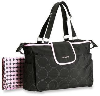 Carter's Tonal Dot Tote Diaper Bag