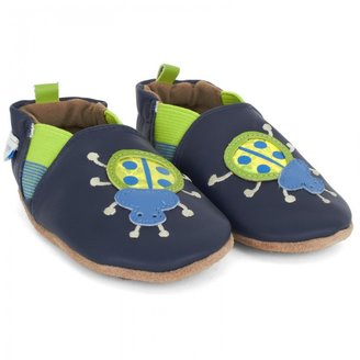 Robeez Navy beetle shoes