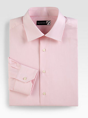 Saks Fifth Avenue Collection Thin Striped Cotton Dress Shirt