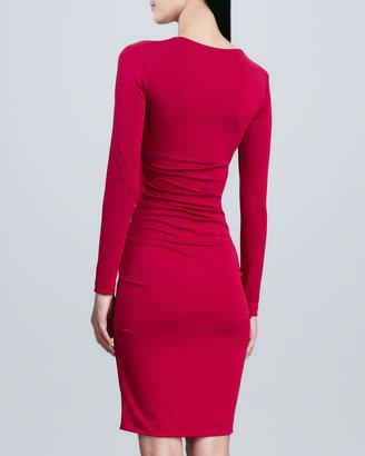 Nicole Miller Artelier Long-Sleeve Square-Neck Sheath Dress