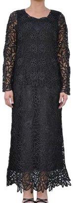 Soulmates Women's Hand-crocheted Black Formal 2-piece Dress Set $113.99 thestylecure.com