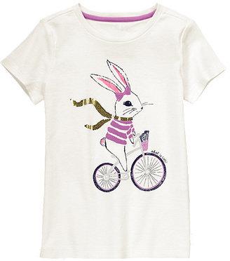Gymboree Bicycle Bunny Glitter Tee