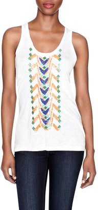 The Limited Forenza Sequined Twist Back Tank