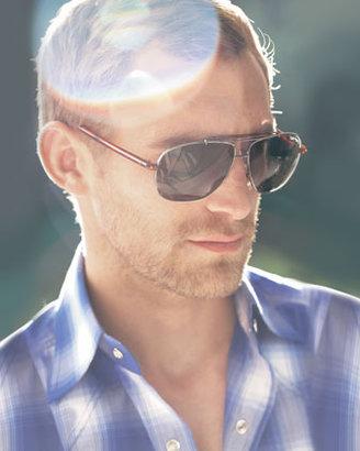 Tom Ford Adrian Metal Aviator Sunglasses