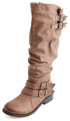 Charlotte Russe Ruched Back Riding Boot
