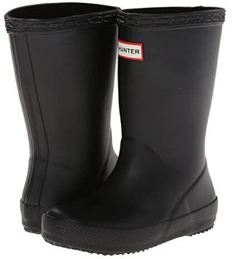 Hunter Original Kids' First Classic Rain Boot (Toddler/Little Kid) (Black) Kids Shoes