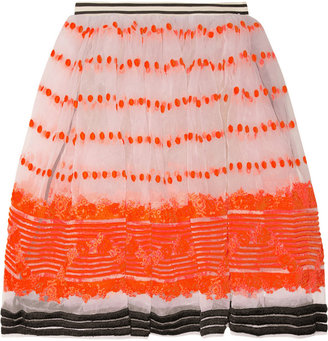 Marni Sequence embroidered organza skirt