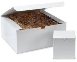 """Container Store 3"""" sq. x 3"""" h 1-pc. Gift Box White"""