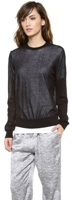 Alexander Wang Loose Knit Over Tee Pullover
