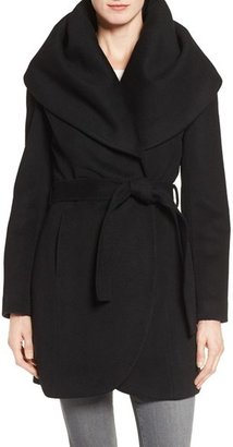 T Tahari Wool Blend Belted Wrap Coat $348 thestylecure.com