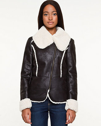 Le Château Bonded Faux-Sherpa Lined Jacket