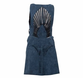 Yiqing Yin Skeleton Blue Dress
