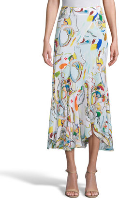 Robert Graham Riley Abstract Midi Skirt