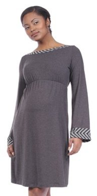 Japanese Weekend Maternity Dress With Stripe Detail