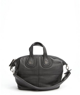 Givenchy black pebbled leather zippered strap 'Nightingale' small convertible tote