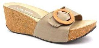 "Cordani Apollo"" Taupe Leather & Cork Slide Sandal"