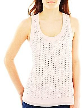 JCPenney Studded Tank Top