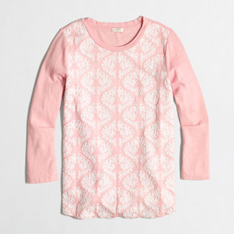 J.Crew Factory Factory embroidered-front top