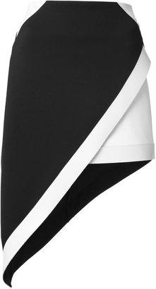 David Koma asymmetric monochrome skirt