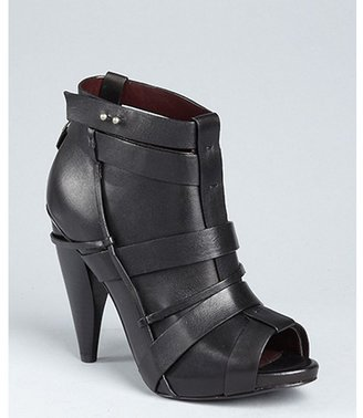 Botkier black leather 'Anya' banded boots