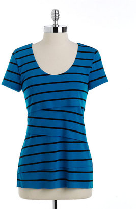 Vince Camuto Petites Striped Tiered Top
